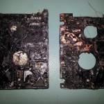 Verbrande laptop